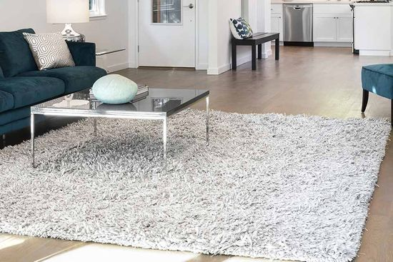 Square grey rug